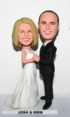 dancing wedding bobblehead cake toppers