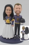 Custom wedding bobbleheads Golden Knights