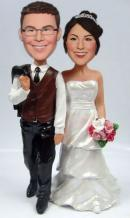 Custom Casual wedding bobbleheads