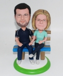 25th Silver Wedding anniversary bobbleheads gift