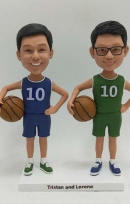 Personalized Bobblehead gift for Two Boys