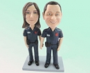 Bobblehead couple - police suit