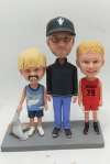 Custom Bobbleheads Granpa and His Grandsons