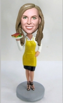 Custom bobblehead chef with apron