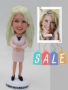 Custom bobblehead doll office lady