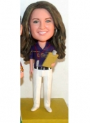 Custom bobbleheads female football coach