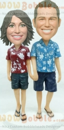 Hawaii Couple Bobbleheads