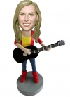Cusotm Bobblehead Female Guitar Player