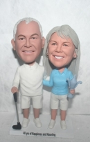Old couple golf bobbleheads