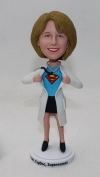 Super female doctor bobblehead