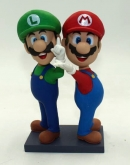 Custom Mario and Louis bobbleheads