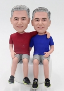 Custom bobbleheads twin brothers
