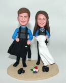 Custom Scuba Diving wedding bobbleheads