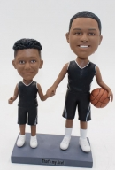 Custom basketball father and son bobbleheads