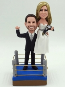 Wrestling custom wedding cake toppers