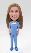 Custom female doctor bobbleheads surgeon