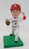 Custom bobblehead Lewis baseball player