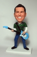 Custom bobblehead gifts guitar player