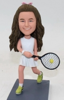 Custom bobblehead tennis girl