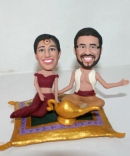 Custom Aladdin wedding cake toppers
