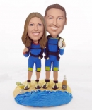 Scuba Diving custom wedding bobbleheads