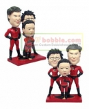 bobble super family- Incredibles- for 3 persons
