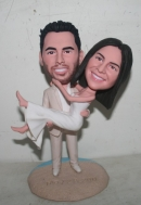 Wedding bobbleheads-Pick up bride