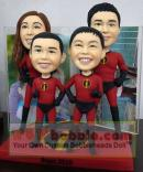 bobble super family- Incredibles- for 4 persons