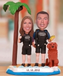Beach Scuba Couple Bobbleheads