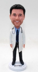 Personalized bobble head doctor with stethoscope