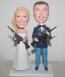 wedding bobbleheads with guns