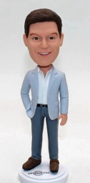 Custom bobblehead in casual suit