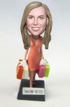 Custom shopaholic bobblehead shopping