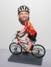 Riding bicycle custom bobbleheads
