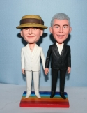 Custom gay wedding cake topper bobblehead