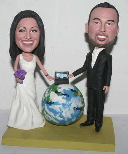 Skype themed wedding bobbleheads 1129