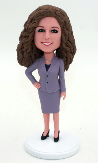 Business lady custom bobbleheads
