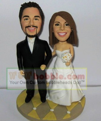 bobblehead cake toppers for wedding- 10520