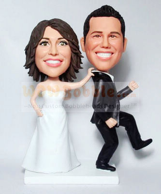 Bride grab Groom Cake Toppers 579