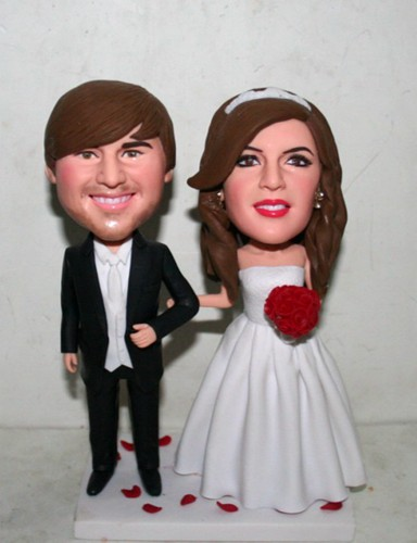Custom cake topper bobblehead- 10585