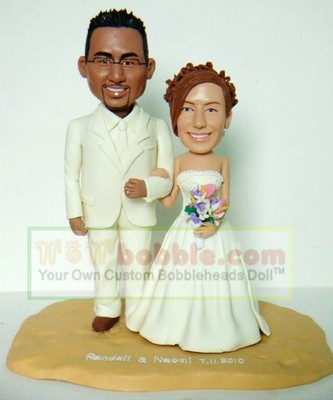 Bobble heads cake topper for wedding- 10634