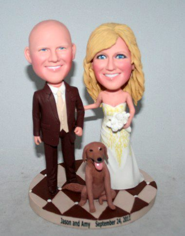 Custom Bobblehead Cake Toppers 10641