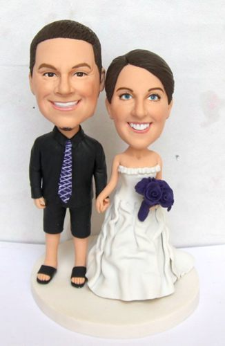 Bobblehead wedding cake topper- 10670