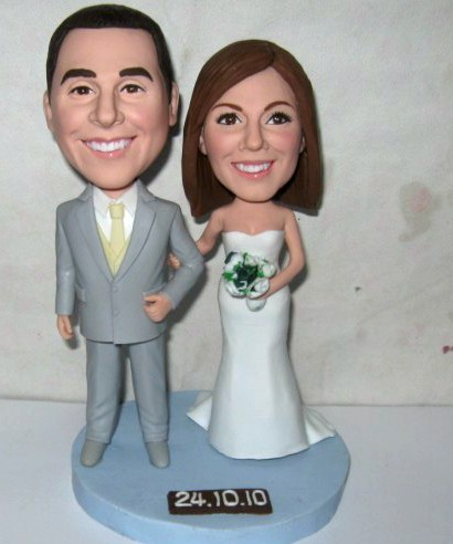 personalized wedding bobblehead - 10683