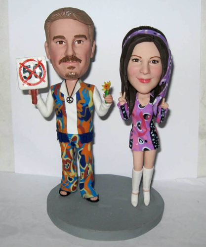 Cute wedding bobblehead - 10691