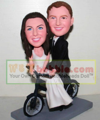 Bicycle bobblehead cake toppers- 10887