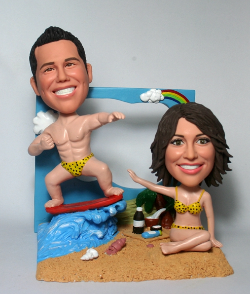 Summer Holiday Couple Bobbleheads