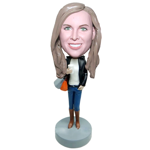 Custom shopping lady bobblehead
