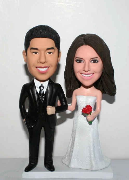 Wedding bobbleheads Cake topper BW28