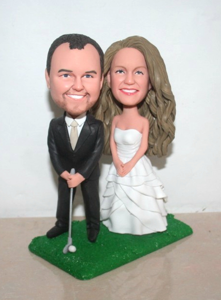 Golf Couple wedding Bobblehead